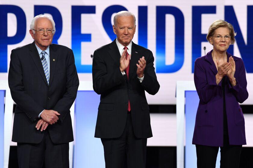 Democratic debate: Sanders, Biden, Warren