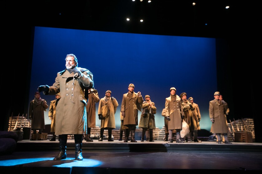 "San Diego Opera's 2018 production of ""All is Calm: The Christmas Truce of 1914."""
