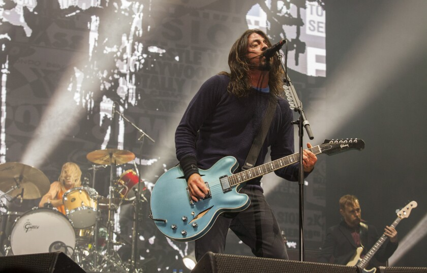 The Foo Fighters perform at the Voodoo Music Experience in New Orleans in 2014. The band will appear on David Letterman's final late-night show.