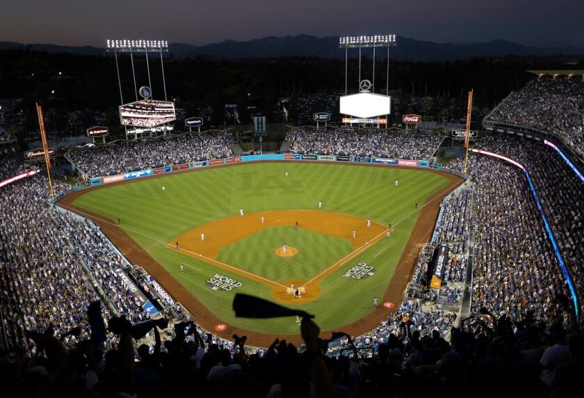 APphoto_Dodger Stadium 2020 All Star Game Baseball