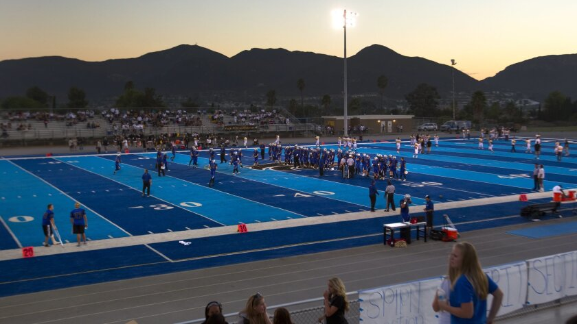 Opponents say there is no home-field advantage to West Hills' blue turf, but the unusual surface has gained some attention for the school beyond the city limits of Santee.