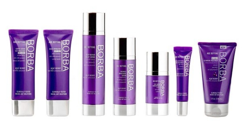 The Borba Collection of skin-care products will debut at Walgreens on Jan. 1.