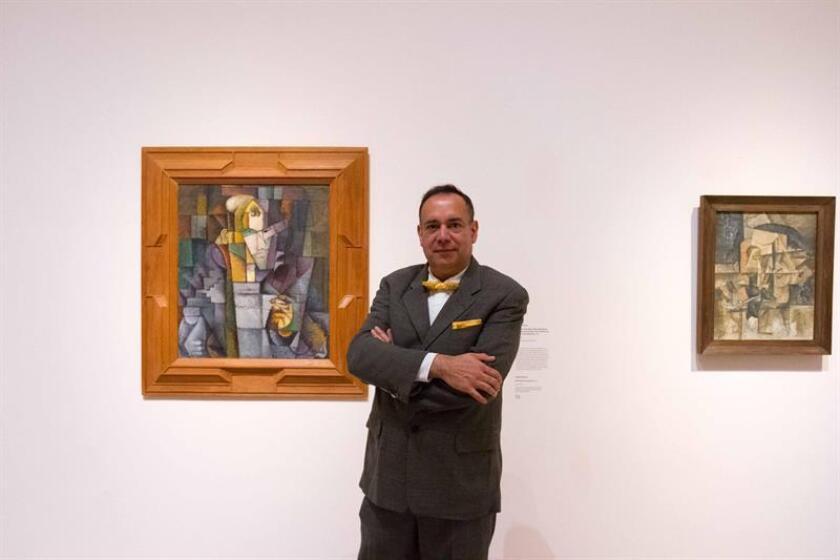 """Las """"conversaciones a través del tiempo"""" de los pintores Pablo Picasso y Diego Rivera, sus encuentros y desencuentros en materia creativa, se muestran desde hoy en una exposición en el Museo de Arte Contemporáneo de Los Ángeles (LACMA), en California. EFE/Felipe Chacón"""