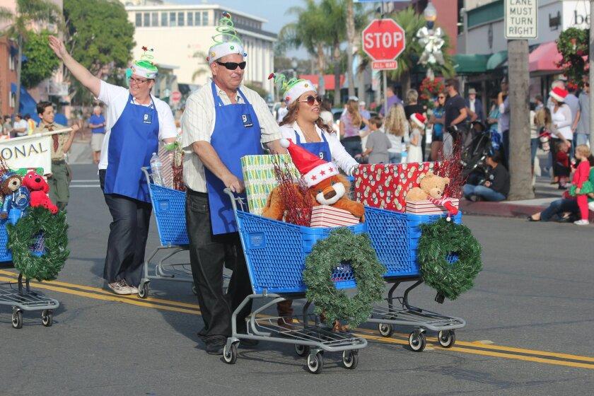 A scene from the 2014 La Jolla Christmas Parade.