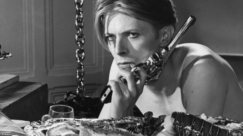 """David Bowie in Nicolas Roeg's """"The Man Who Fell to Earth."""""""