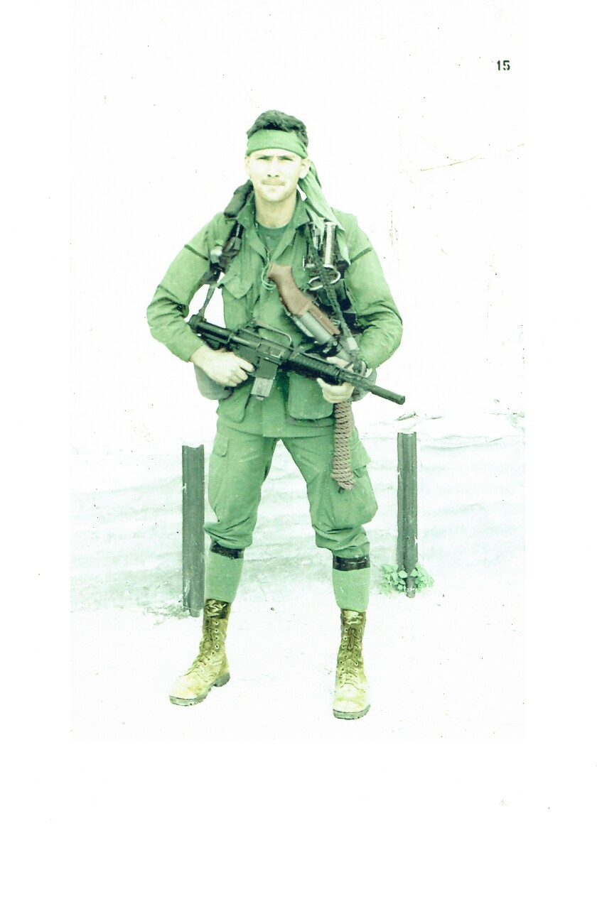 Doug LeTourneau at Forward Operating Base 1 in Phu Bai in November 1968 where he was a member of a Special Forces Recon Team Virginia. At that time, the Green Berets were running top secret missions into Laos, Cambodia and N. Vietnam.