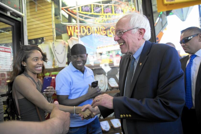 Bernie Sanders in New York
