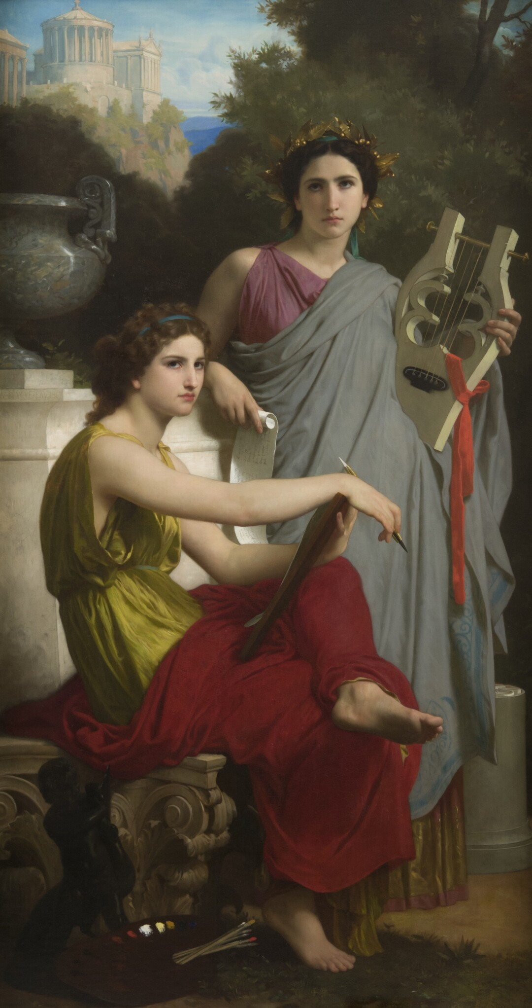 """""""Bouguereau & America"""" at the San Diego Museum of Art: """"Art and Literature,"""" 1867 Oil on canvas"""