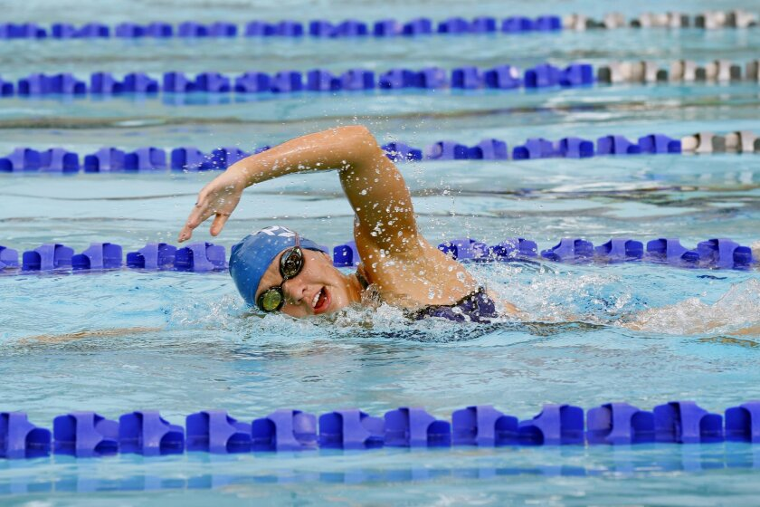 West Hills junior Sarah Nowaski won San Diego Section championships in the 200- and 500-yard freestyle as a freshman and sophomore.
