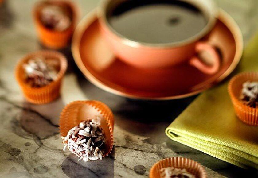 Chocolate apricot balls.