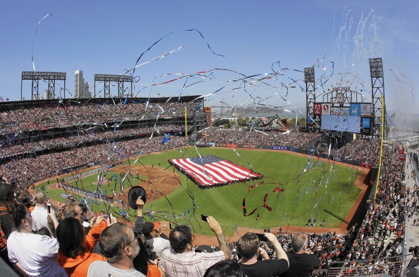 AT&T Park, home of the San Francisco Giants, would become the first major league ballpark to ban smokeless tobacco if the city enacts an ordinance it is considering.