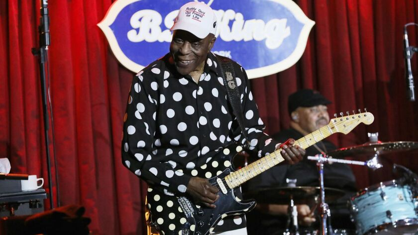 Buddy Guy, performing above in New York in April, will receive a Lifetime Achievement Award as an instrumentalist from the Americana Music Assn. in September.