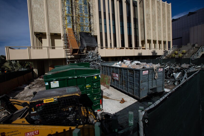 Work on the Los Angeles County Museum of Art