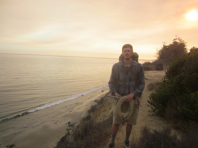 Nick Neely along the California coast.