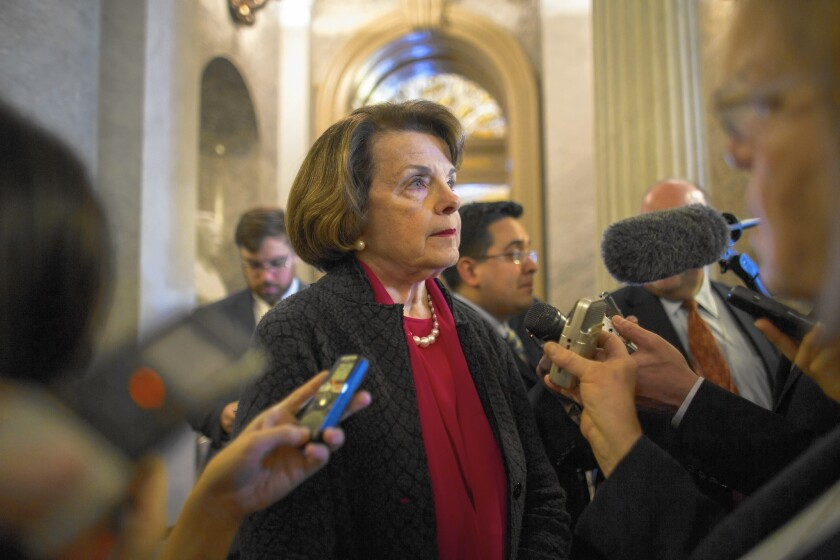 A REPORT ON enhanced interrogations released by Sen. Dianne Feinstein was done without bipartisan support.