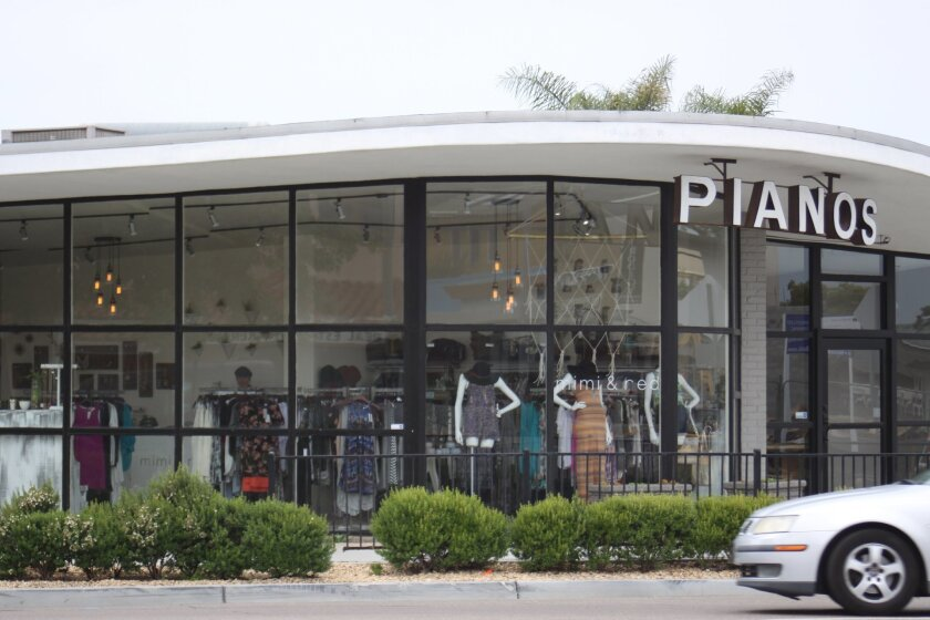 Mimi and Red fashion boutique has taken over the former home of Schroeder Piano at 5680 La Jolla Blvd.