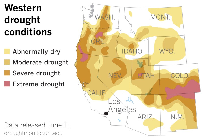 Widespread drought persists in the West.