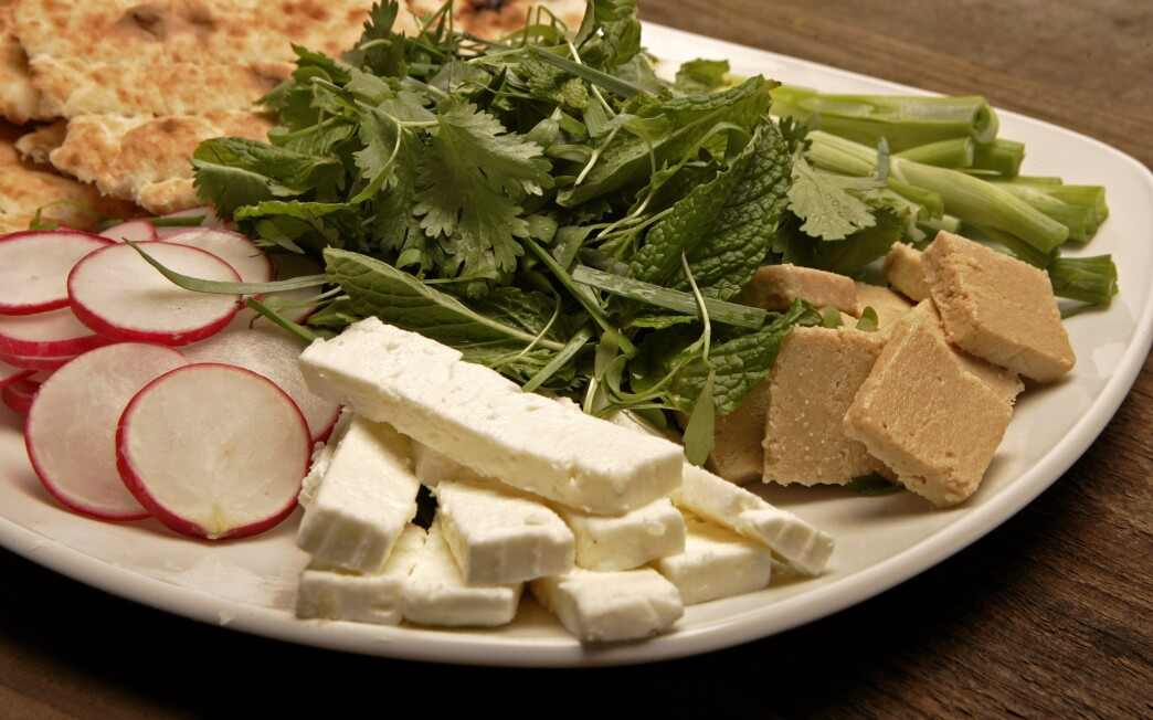 Persian-style herb and cheese platter