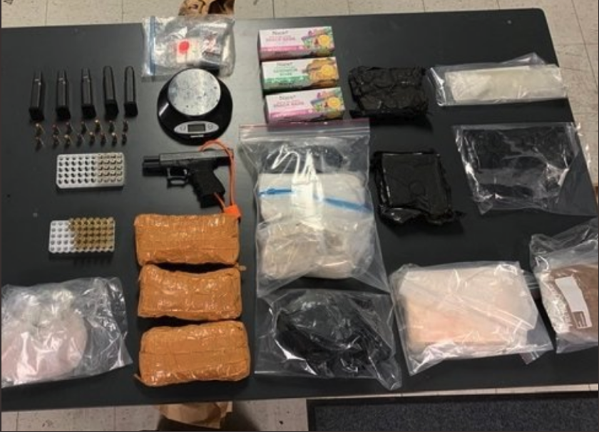 Fentanyl and other drugs seized Wednesday by Orange County law enforcement.