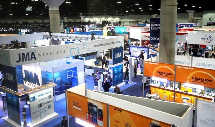 Vista general del piso de exhibiciones durante el GSMA Mobile World Congress Americas hoy, miércoles 12 de septiembre de 2018, en el Centro de Convenciones de Los Ángeles, California (EE.UU.). EFE