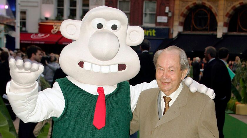 """British actor Peter Sallis played irrepressible, cheese-loving inventor Wallace in the """"Wallace and Gromit"""" cartoons between 1989 and 2010. He died Friday in London."""