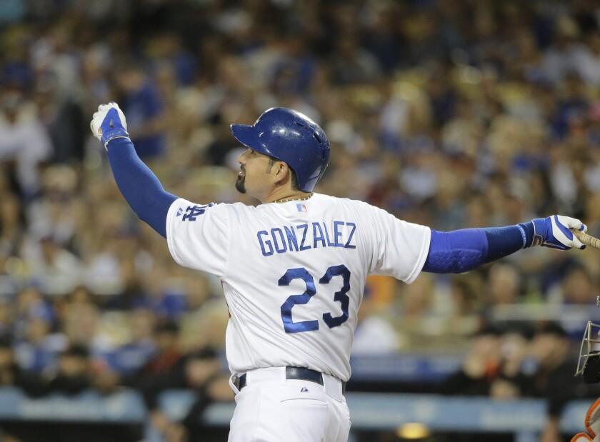 Adrian Gonzalez was the Dodgers' most consistent offensive force last season.