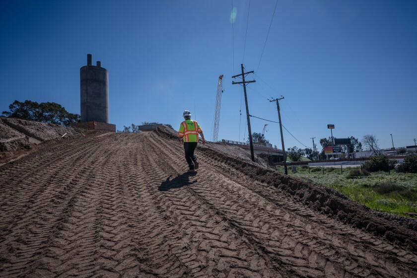 The bullet train route is under construction in the San Joaquin Valley.