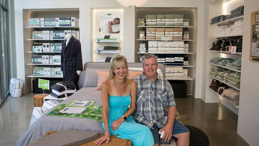 Kevin and Lisa Long opened their first business this year, Cariloha at the Pacific City mall in Huntington Beach.