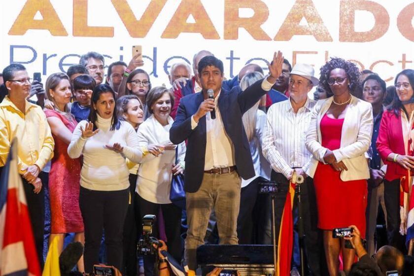Estados Unidos felicitó hoy al presidente electo de Costa Rica Carlos Alvarado por su triunfo en la segunda vuelta de las presidenciales celebradas este domingo y le trasladó su deseo de trabajando con su Administración durante su mandato. EFE/ARCHIVO