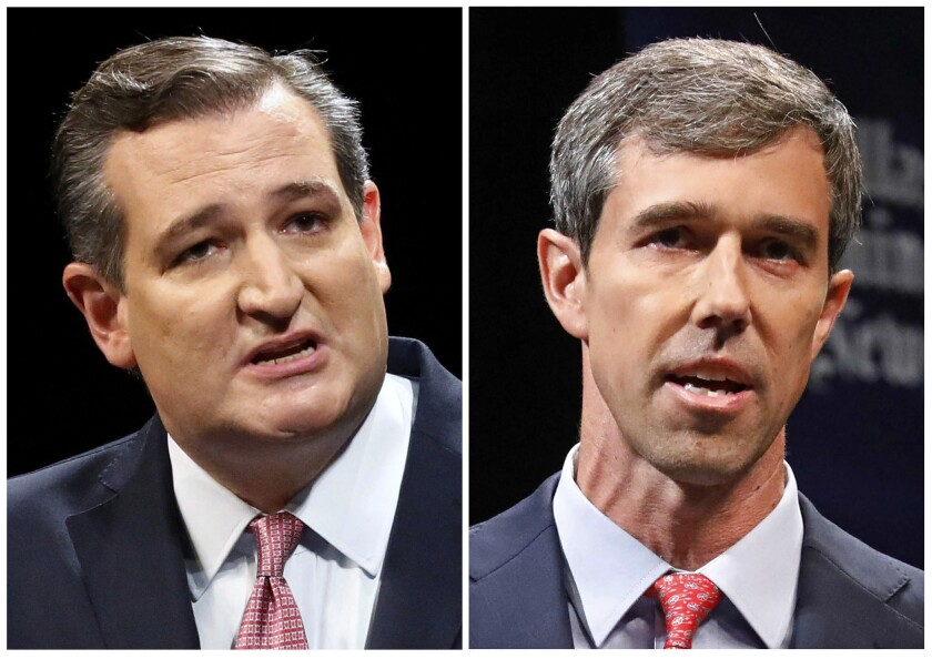 Sen. Ted Cruz's lead against Democratic challenger Beto O'Rourke is narrowing, according to a new poll Monday.
