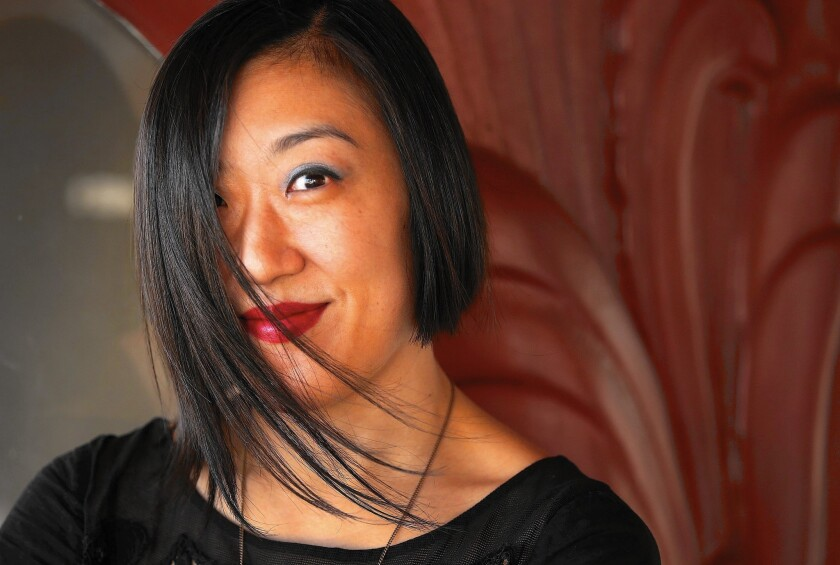 "Playwright Young Jean Lee, whose ""Straight White Men"" is having its West Coast premiere at the Kirk Douglas Theatre in Culver City,"