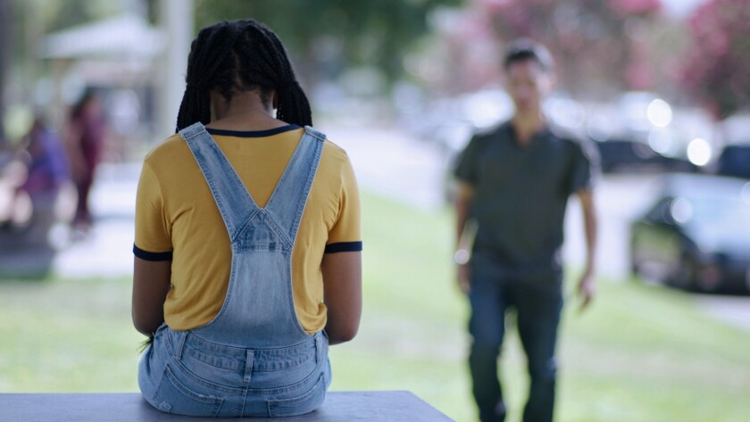 """A film still from Palomar College Television's documentary """"Shattered Dreams: Sex Trafficking in America,"""" which profiles the lives of several ex-sex-workers, including two North County women."""