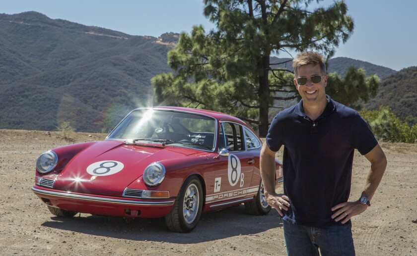 """Former """"Seinfeld"""" and """"SNL"""" writer Spike Feresten took his 1968 911L Porsche race car on a spirited L.A. Drive from Pacific Coast Highway high into the Malibu hills."""