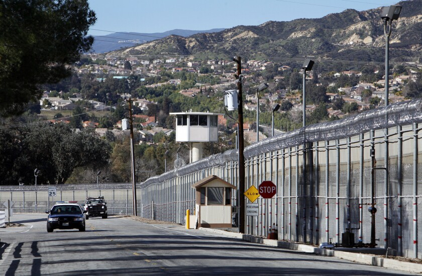The entrance to the Pitchess Detention Center, a Los Angeles County jail complex in Castaic that includes the North County Correctional Facility.