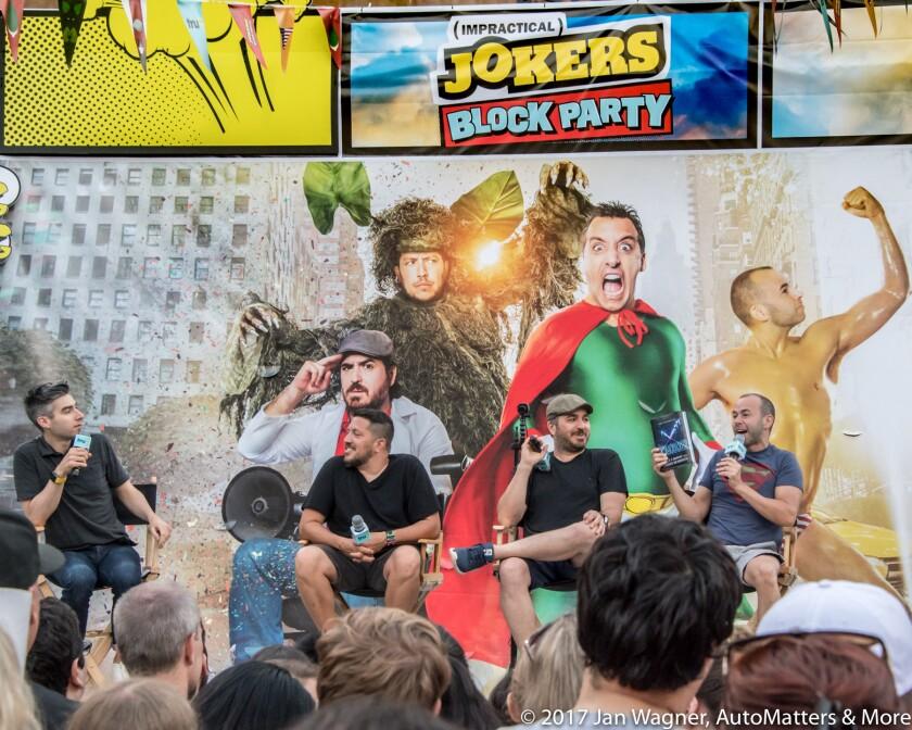 """Impractical Jokers"" block party at Petco Park"