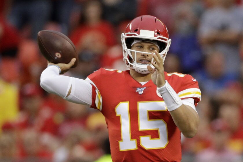 Kansas City Chiefs quarterback Patrick Mahomes.