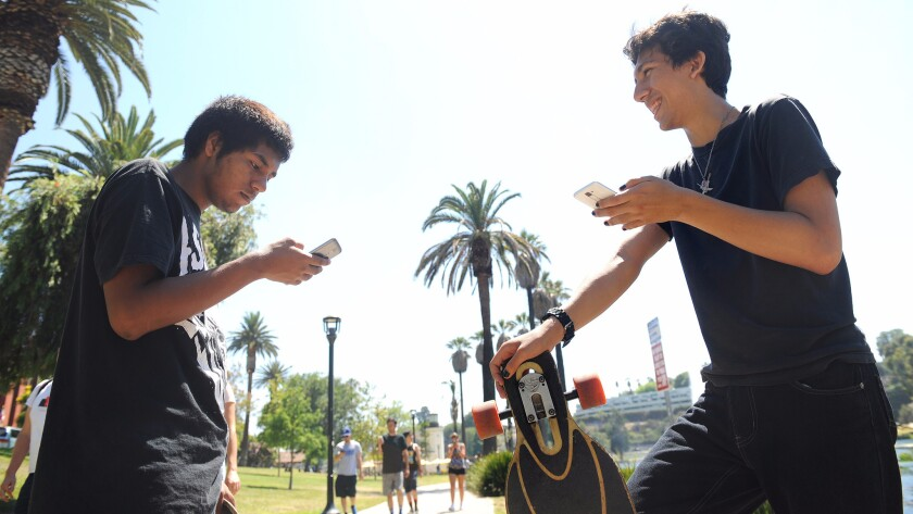 Pokemon Go players near Echo Park Lake