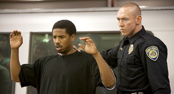 """Michael B. Jordan and Kevin Durand in a scene from """"Fruitvale Station."""""""