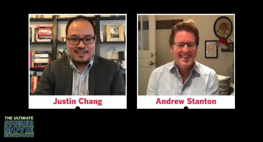 Director Andrew Stanton joined film critic Justin Chang