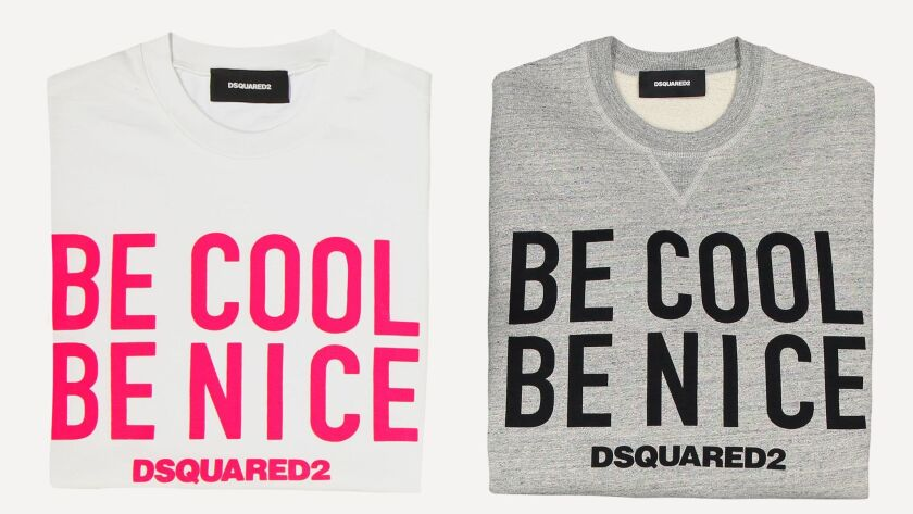 Dsquared2 x Be Cool Be Nice capsule collection.