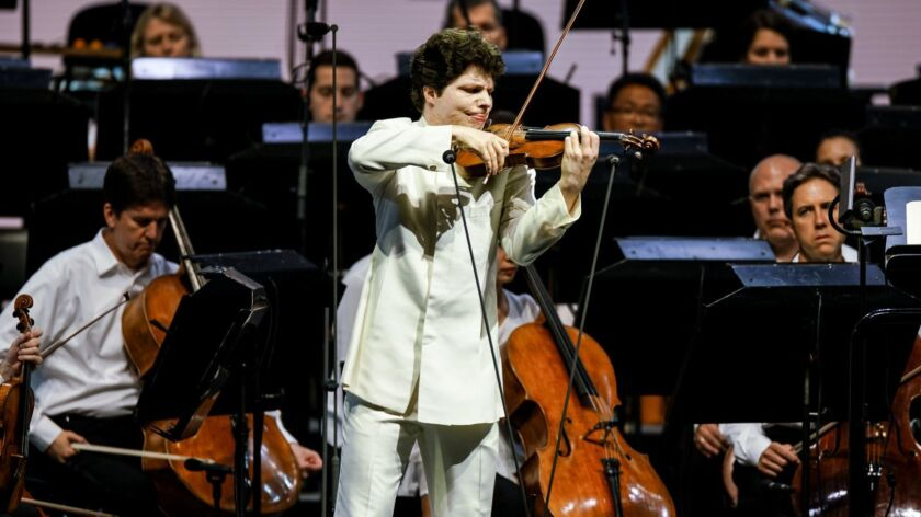 LOS ANGLELES, CALIF. - JULY 24: Augustin Hadelich performs the Sibelius Violin Concerto in D minor,