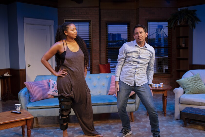 """Actors Leilani Smith and Christopher M. Williams will perform as the lead characters in North Coast Rep's """"Dancing Lessons."""""""