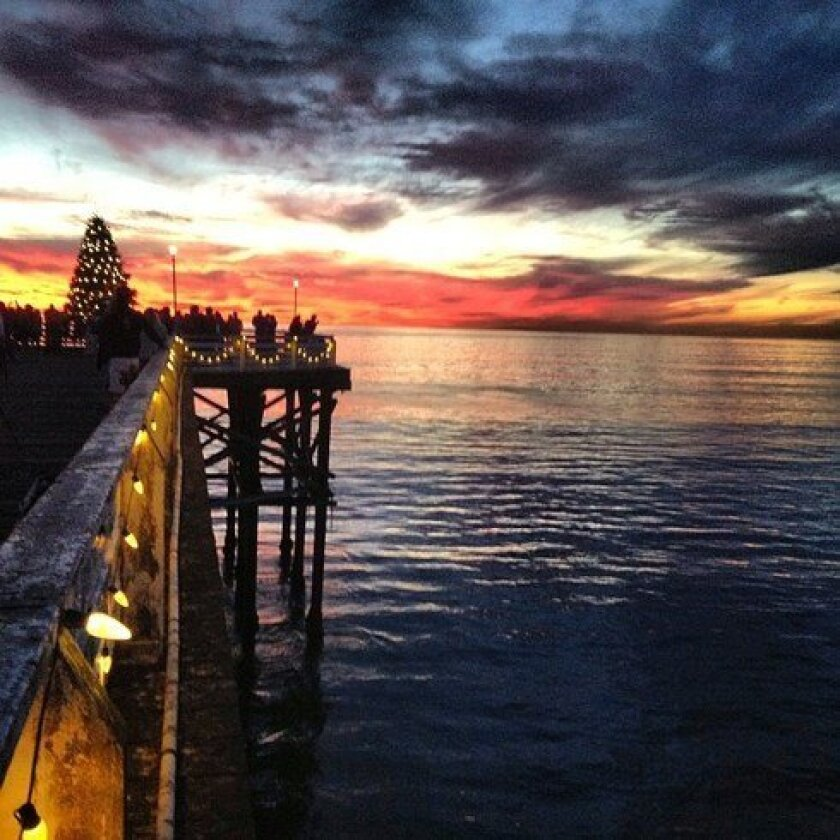 Christmas on Crystal Pier in Pacific Beach