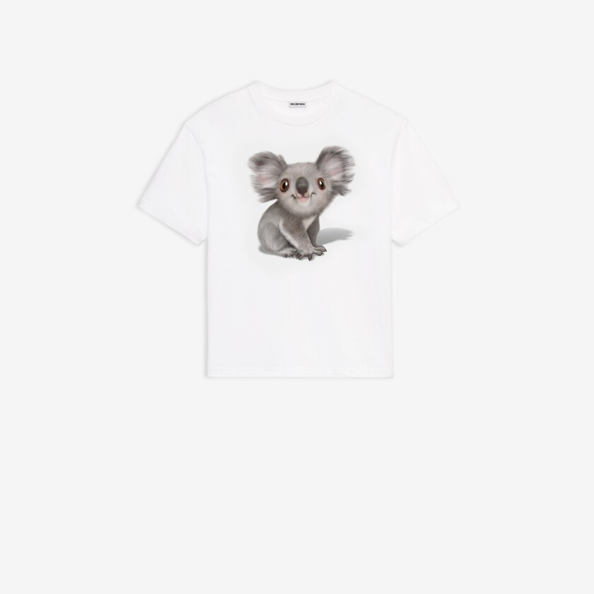 Balenciaga's Australian wildfire relief T-shirt with cartoon koala