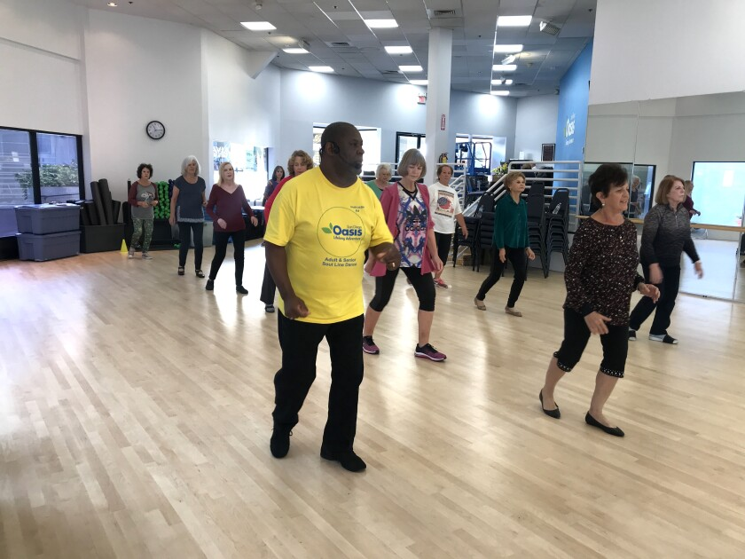 Soul Line Dancing with Ed Griffith is just one of several fitness offerings from San Diego Oasis at the free 2019 Fitness-Palooza on Jan. 10 in La Mesa.