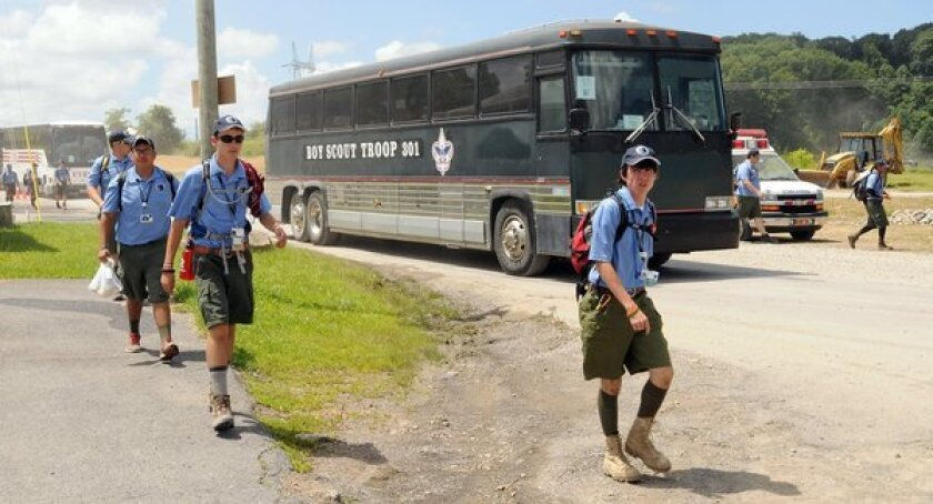 The Boy Scouts of America has barred those with a body mass index over 40 from its Jamboree in West Virginia, citing concerns over safety and a desire to motivate obese Scouts to change their ways.