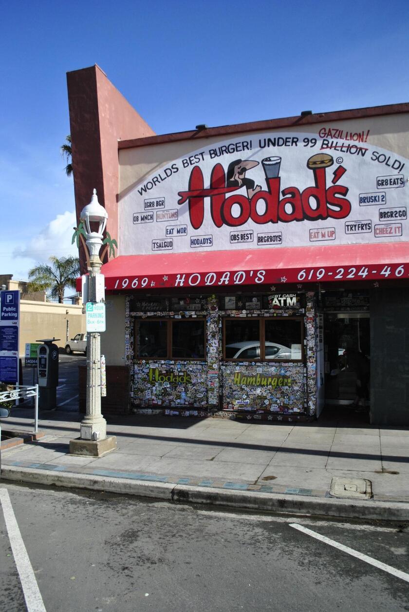 Hodad's is located at 5010 Newport Ave in Ocean Beach.