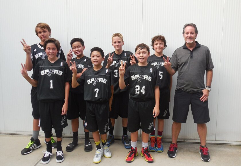 The Carmel Valley Spurs sixth-grade basketball team were finalists July 5-6 at the 2014 SOL Independence Day Shootout Tournament at Alliant University in Scripps Ranch.