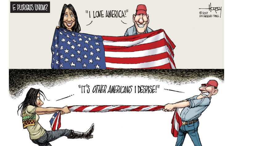 Most Americans love their country, but are not so fond of their fellow Americans.