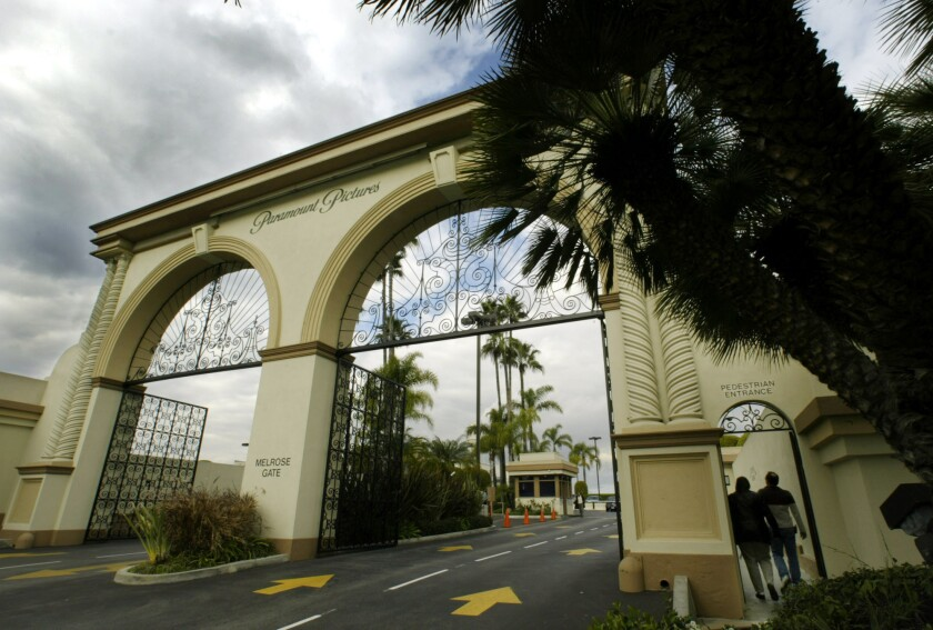 The Melrose Avenue gates of Paramount Pictures